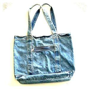 Large Vintage Jean Tote Bag